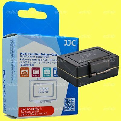 JJC BC-LPE17 2-In-1 Battery Hard Case & SD MicroSD Card Holder for Canon LP-E17