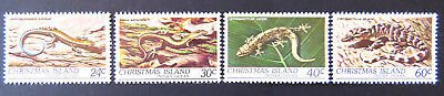 1981 Christmas Island Stamps - Wildlife - Reptiles - Set of 4 MNH