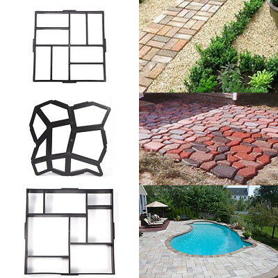 4X Paving Mould Path Pathway Patio Pavers Garden Stones Shaper Template 40cm