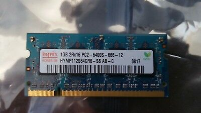 Hynix 1Gb Ddr2 Pc2-6400S Sodimm Laptop Memory Hymp112S64Cr6 Ram