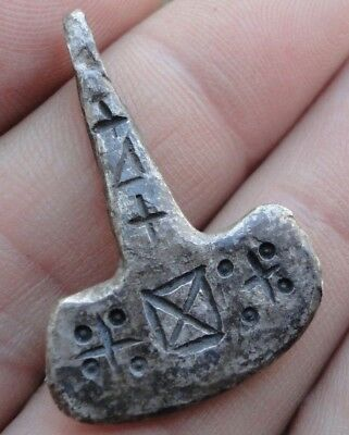 VIKING Ancient SILVER Thor's hammer Pendant Amulet Museum quality artifact