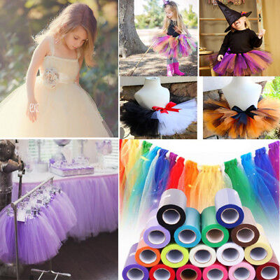 "6""x 25 Yards Tutu Tulle Roll Wedding Decoration Roll Spool Netting Fabric Craft"