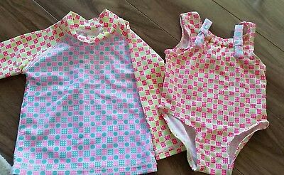 Seed baby girl rashie and swimsuit 3-6months