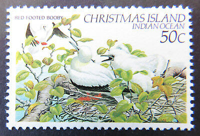 1982-1983 Christmas Island Stamps - Birds Definitives - Single 50c Booby MNH