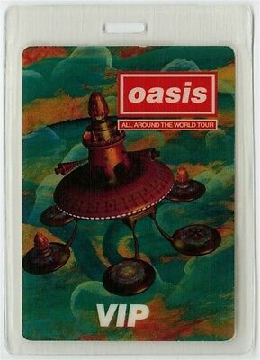 Oasis authentic 1997 concert Laminated Backstage Pass All Around the World Tour