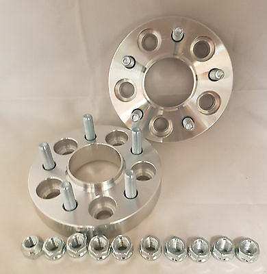 Jaguar XF 2008 On 25mm per side 5x108 63.3 Hubcentric Wheel Spacers 1 PAIR