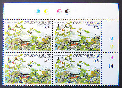 1982-1983 Christmas Island Stamps - Birds Definitives - Cnr Blk 4x50c Booby MNH