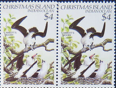 1982-1983 Christmas Island Stamps - Birds Definitives - Double $4 - Booby MNH