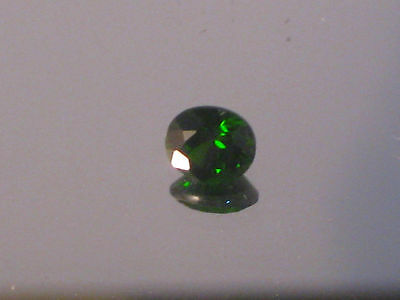 Diopside, 4.7 x 5.4 mm Oval cut Russian chrome Diopside, 0.62 ct