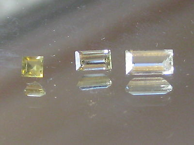 Aquamarine,clear baguette cut, Beautiful light green Aquamarine gemstones,1 only