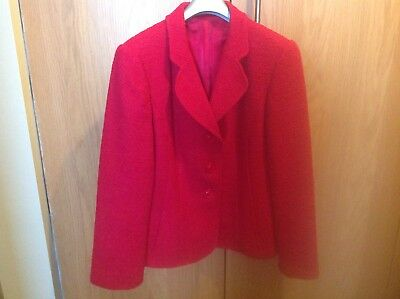 Red Hobbs Jacket Size 12