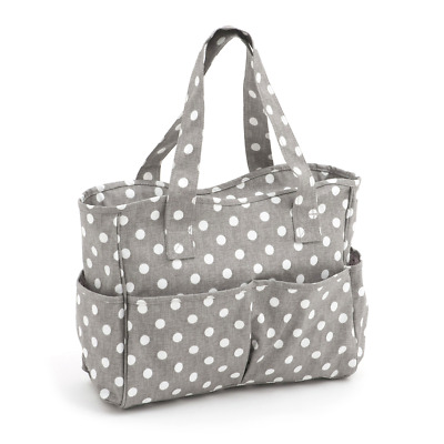 Hobby Gift 'Grey Polka Dot' Matt PVC Craft Bag 12.5 x 39 x 35cm (d/w/h)