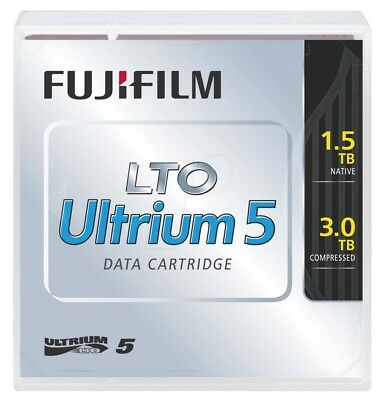 FUJIFILM 10 x LTO5 ULTRIUM 1.5TB / 3.0TB RW DATA CARTRIDGE (71022)