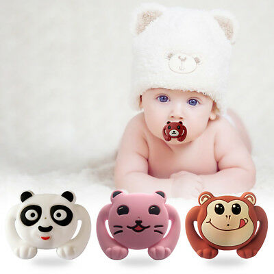 Baby Newborn Girl Boys Cartoon SiliconePacifier Clip Dummy Soother Nipple Holder