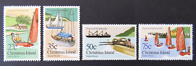 1983 Christmas Island Stamps - 25 Years of the Boat Club - Set of 4 MNH