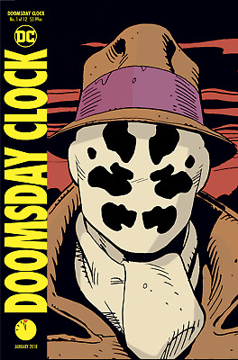 DOOMSDAY CLOCK #1 DC Comics WATCHMEN Batman Metal LENTICULAR VARIANT COVER! NM
