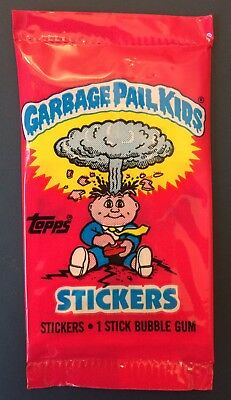 UK Garbage Pail Kids Series 1 New Pack ~Guaranteed Adam Bomb 8a Card!(0-494-0-6)