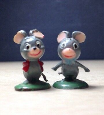 Marx TV Tinykins 1960's Pixie & Dixie from Huckle Berry Hound mini mouse Figures