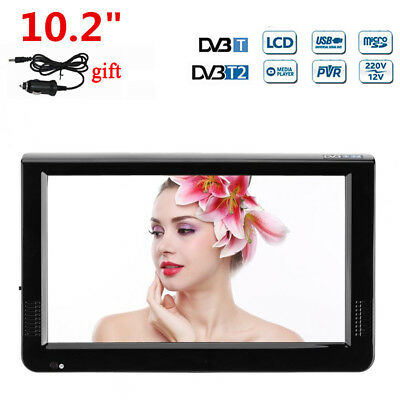 10.2'' inch 12V Portable Car DVB-T2 TFT LED HD TV 16:9 Digital Analog Television