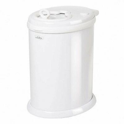 Ubbi Money Saving, No Special Bag Required, Steel Odor Locking Diaper Pail, Whit
