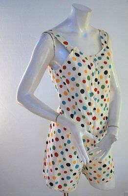 Vintage 1950 Polka Dot Cotton Summer Romper
