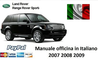 Manuale Officina Italiano Land Range Rover Sport 2007 2008 2009 Assistenza