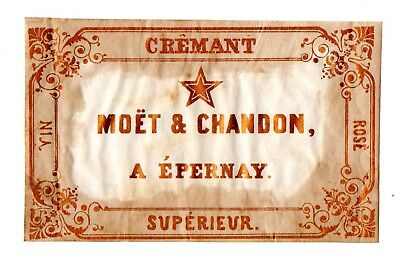 1860s MOET & CHANDRON, EPERNAY, FRANCE ROSE WINE LABEL