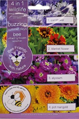 Bee Friends Multi-packs - 4 in1 Bee - Buzzing Summer Days Mix - 325 Seeds