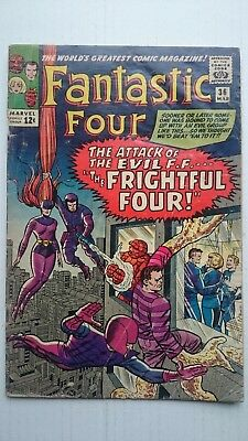 Fantastic Four # 36  -Vg  1St App Of Medusa Of Inhumans  Jack Kirby  Cents  1965