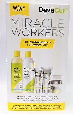 DevaCurl MIRACLE WORKERS WAVY Custom Kit for Wavy Hair NEW IN BOX, FREE SHIPPING