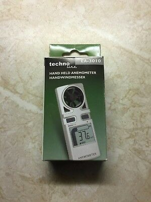 Unused Present Technoline EA-3010 Hand Held Anemometer and Thermometer