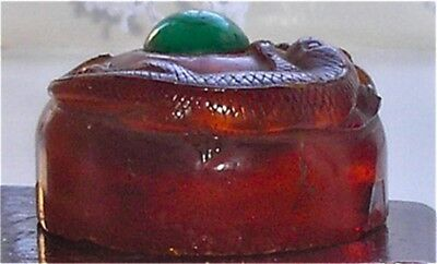Antique Chinese amber & Jade Carved Seal Signed and Mark for Qing-Long Dynasty