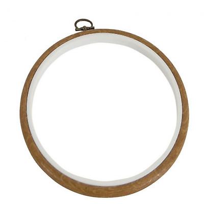 "Dmc 7"" Wood Effect Round 2 In 1 Embroidery Cross Stitch Hoop Mv0033L/175"