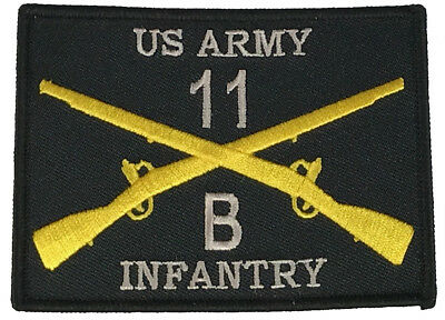 Combat Infantryman 11B Patch Army Infantry Grunt Crossed Rifles Branch Insignia
