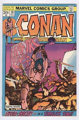 Conan The Barbarian Comic #19 (1972) FN+ Marvel Bronze Age Barry Smith