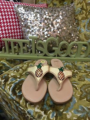 8fdc8615a MISS TRISH FOR target PINEAPPLE Sparkle RHINESTONE sandals 6.5 ...