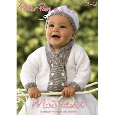 833b6720d WENDY PETER PAN Baby Moondust Yarn Knitting Pattern Book 342 - £6.99 ...