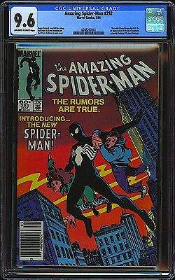 Amazing Spider-Man #252 CGC 9.6 NM Marvel 1984 1st Black Costume Newsstand