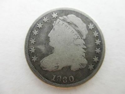 1830 Capped Bust U.S. Silver Dime Coin