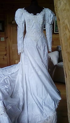 Beautiful Princess Style Wedding Dress From 1987, Worn Once