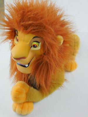 "Disney Mufasa Lion King Vintage Hand Head Puppet Large 20"" Plush Hard Vinyl Face"