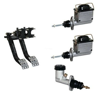 Reverse Swing Mount Brake Clutch Pedal Combo Assembly Master Cylinders 6.25:1