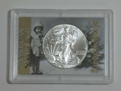 Happy Holidays Christmas - 2018 American Silver Eagle - One Ounce ASE 999 1 oz
