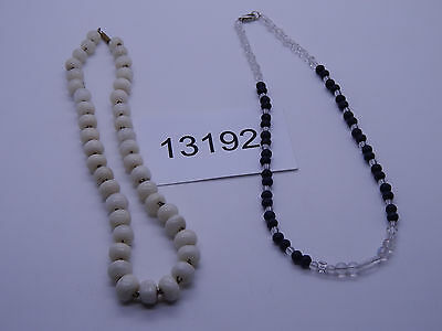 Vintage Jewelry LOT OF 2 Necklaces HEAVY BEADS 13192