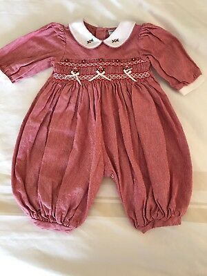 Friedknit Creations Baby Girl One-Piece Creeper Romper Christmas Holiday 3 mo