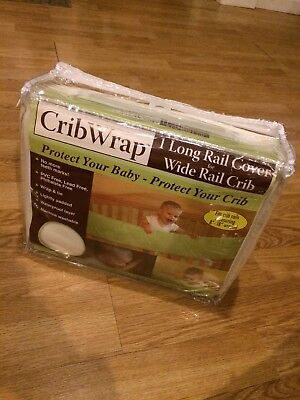 NEW! Fabric Crib Wrap 1 Long Rail Cover for Wide Rail Baby Crib  by Trend Lab