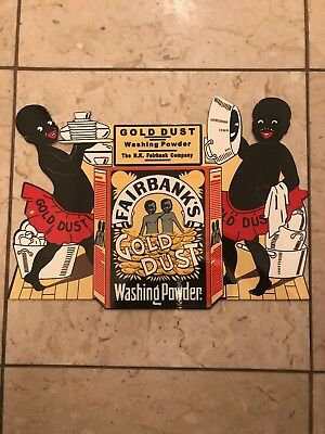 Vintage Afro American Black Americana Fairbanks gold dust Washing powder