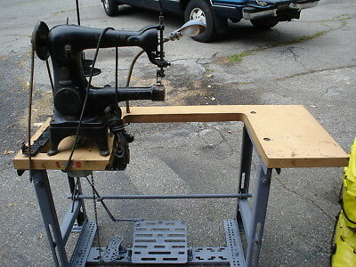 Singer Sewing Machine 18-22 For Leather Or Shoe, Serial#aj886018.
