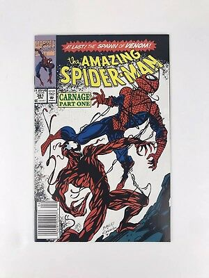 The Amazing Spider-Man #361 Newsstand Variant, First Appearance of Carnage