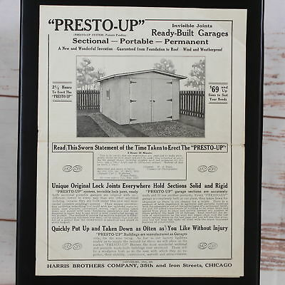 Vintage 1916 Harris Brothers Presto-Up Ready Building Price Sheet